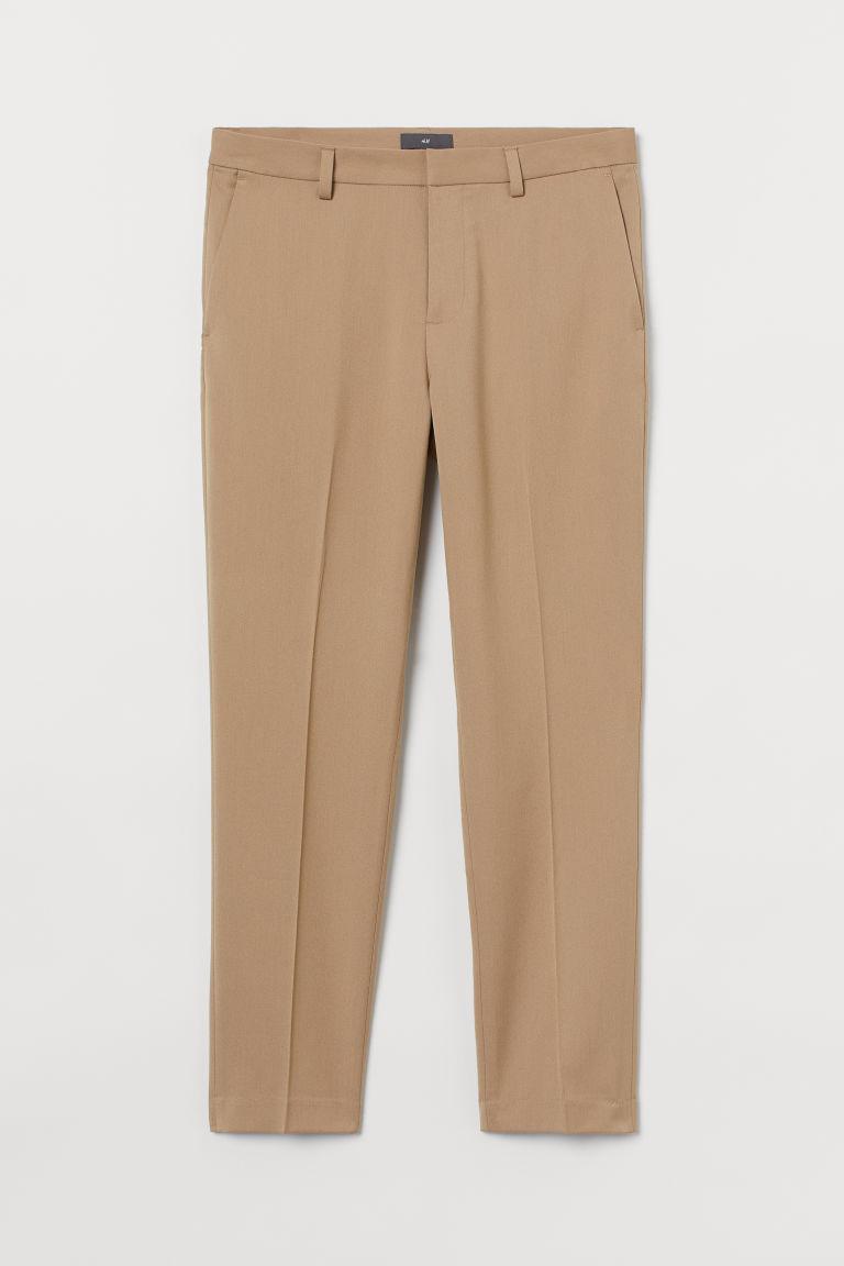 H & M - 貼身煙管褲 - 米黃色