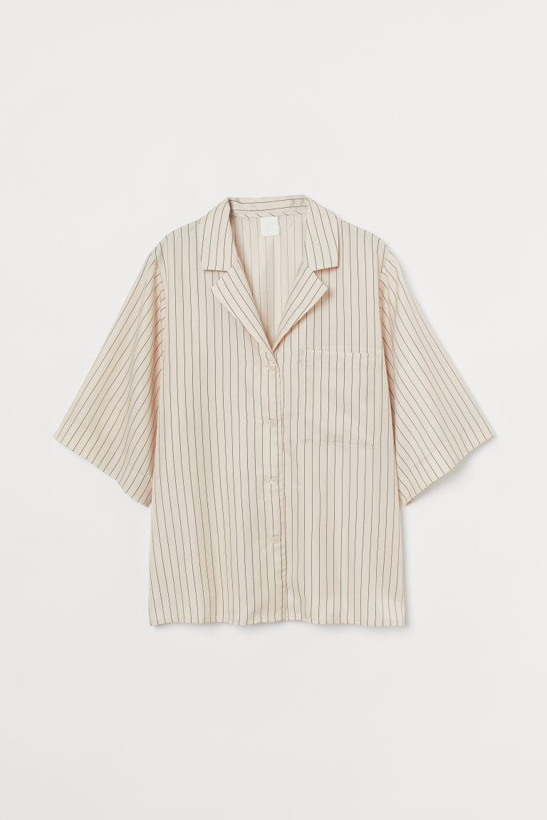 H & M - 萊賽爾混紡襯衫 - 米黃色
