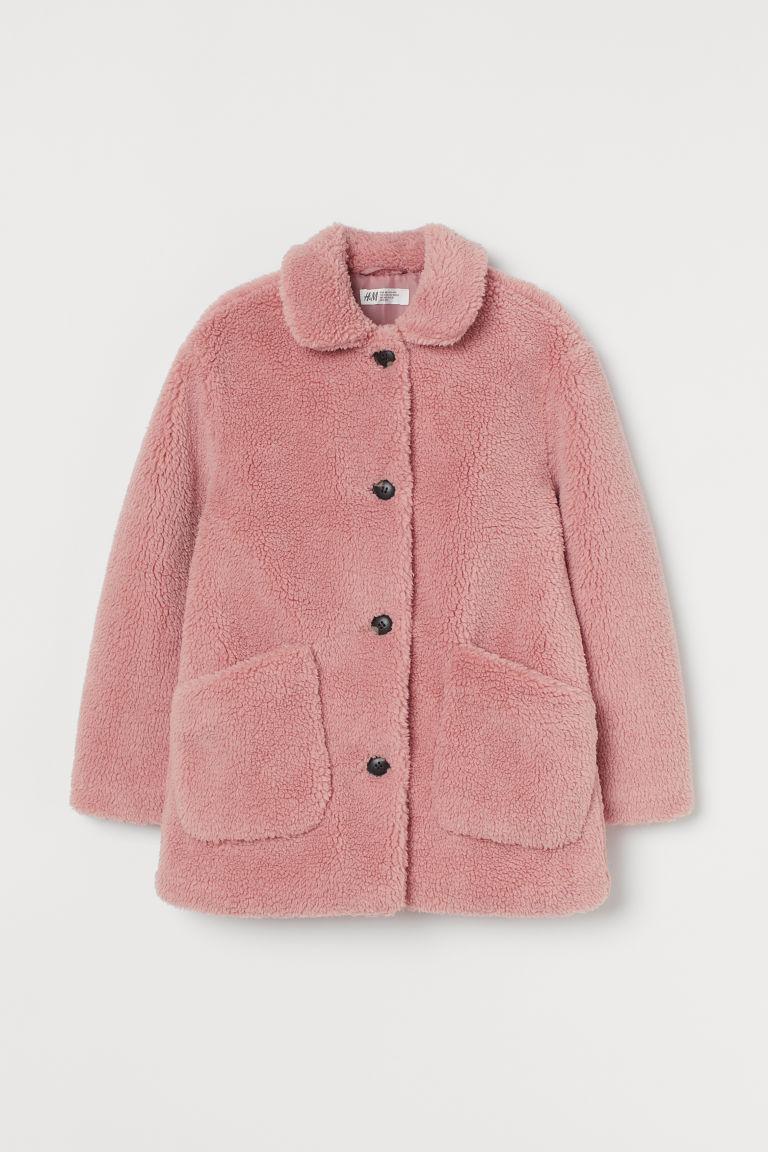H & M - 泰迪熊大衣 - 粉紅色