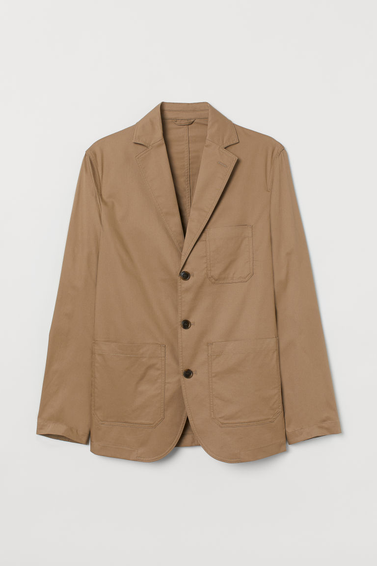 H & M - 標準剪裁外套 - 米黃色