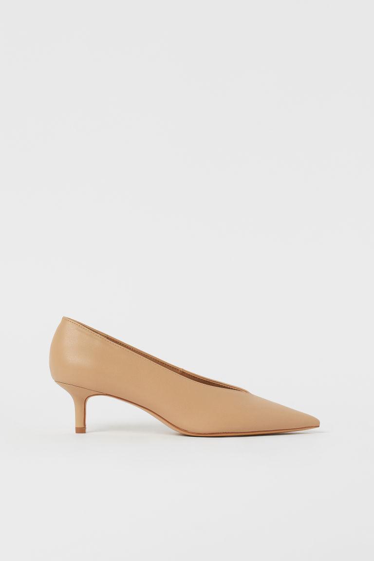 H & M - 尖頭淺口鞋 - 米黃色