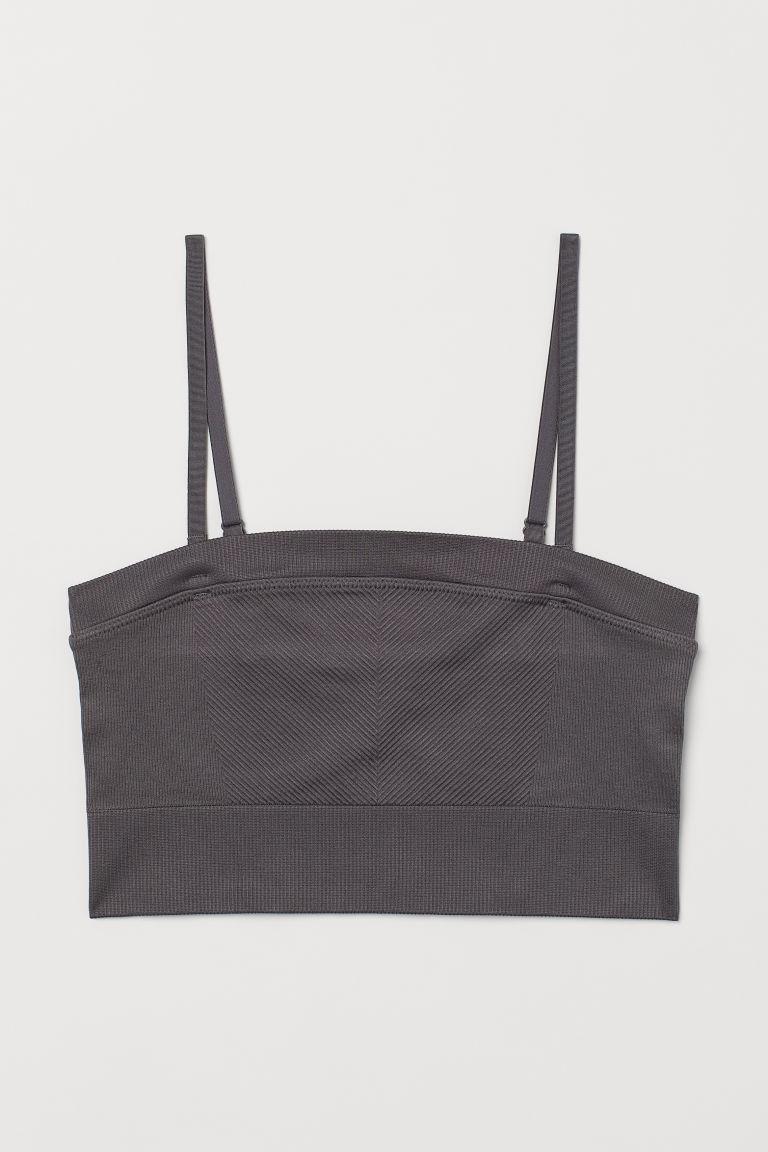 H & M - 無痕運動內衣 - 灰色