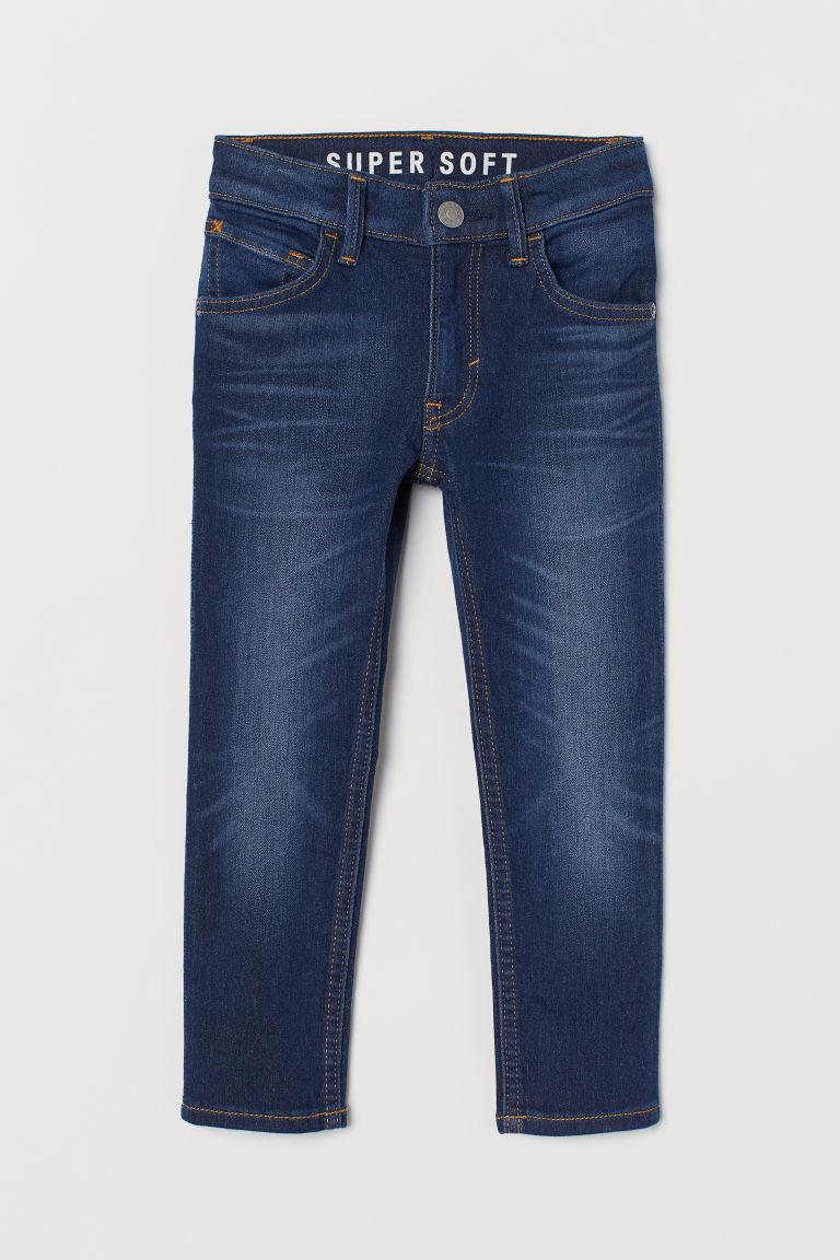 H & M - 窄管牛仔褲 - 藍色