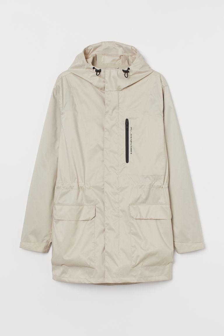 H & M - 防潑水軍外套 - 米黃色