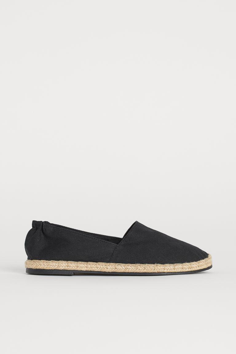 H & M - 草編鞋 - 黑色