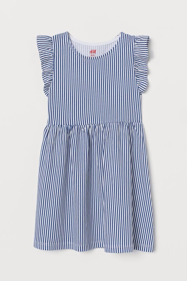 H & M - 平紋洋裝 - 藍色