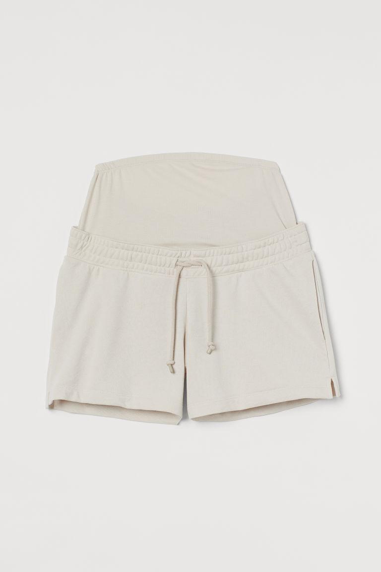 H & M - MAMA 運動短褲 - 米黃色