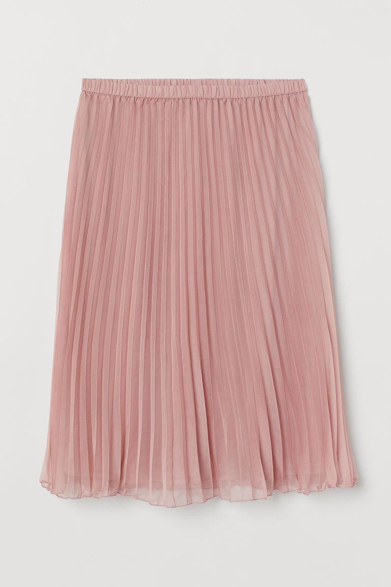 H & M - H & M+ 百褶裙 - 粉紅色