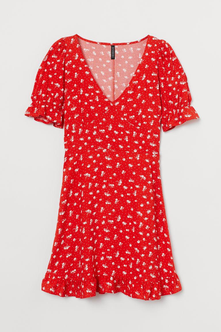 H & M - 印花洋裝 - 橙色