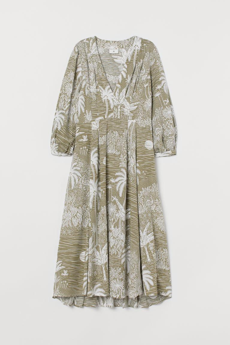 H & M - 抓褶洋裝 - 綠色