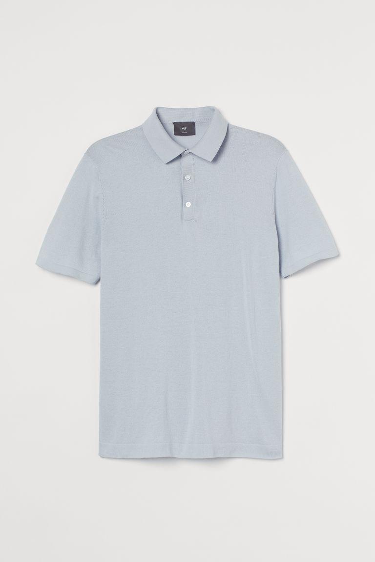 H & M - Finstickad tenniströja - Blå