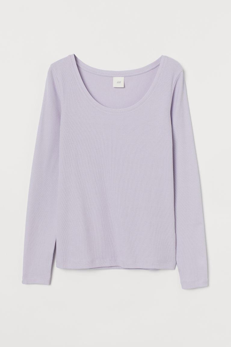 H & M - 長袖上衣 - 紫色