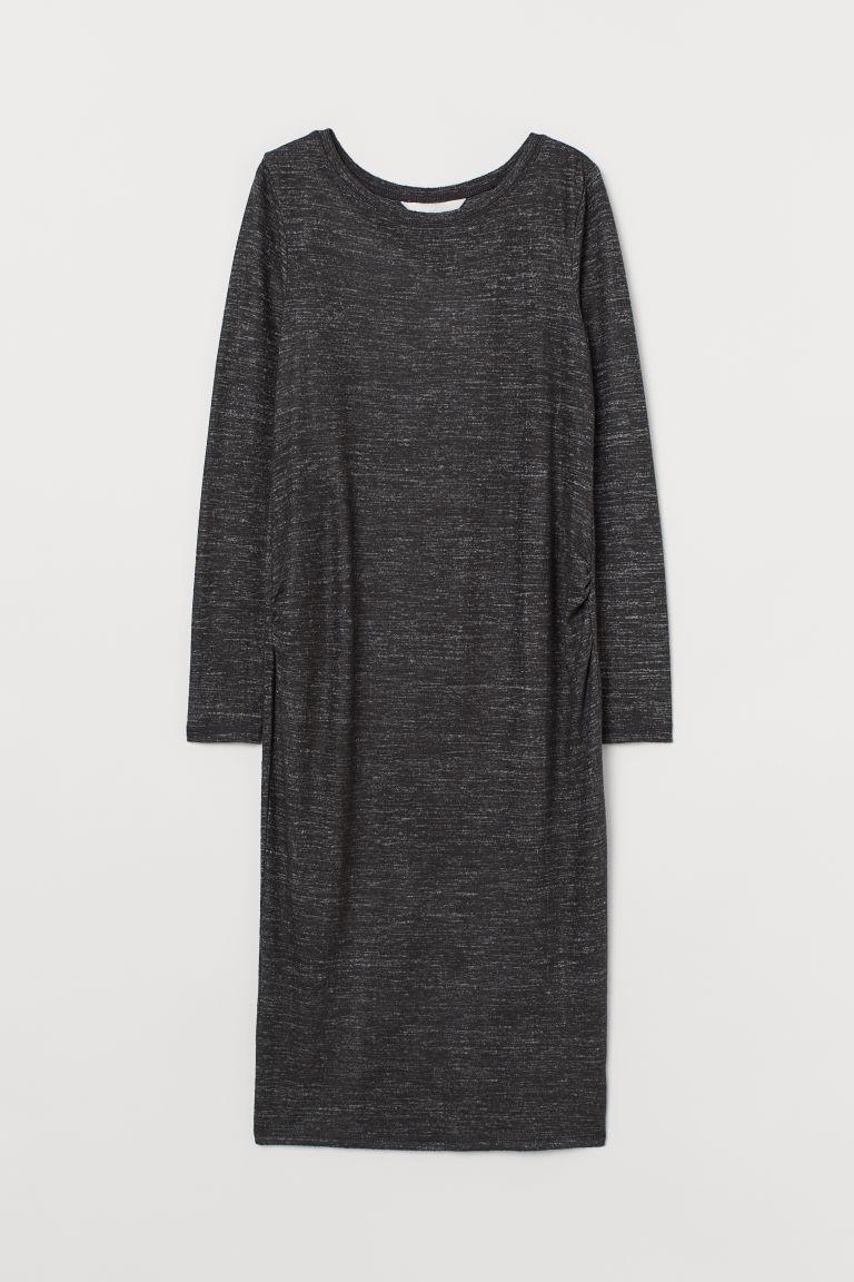 H & M - MAMA 平紋洋裝 - 灰色