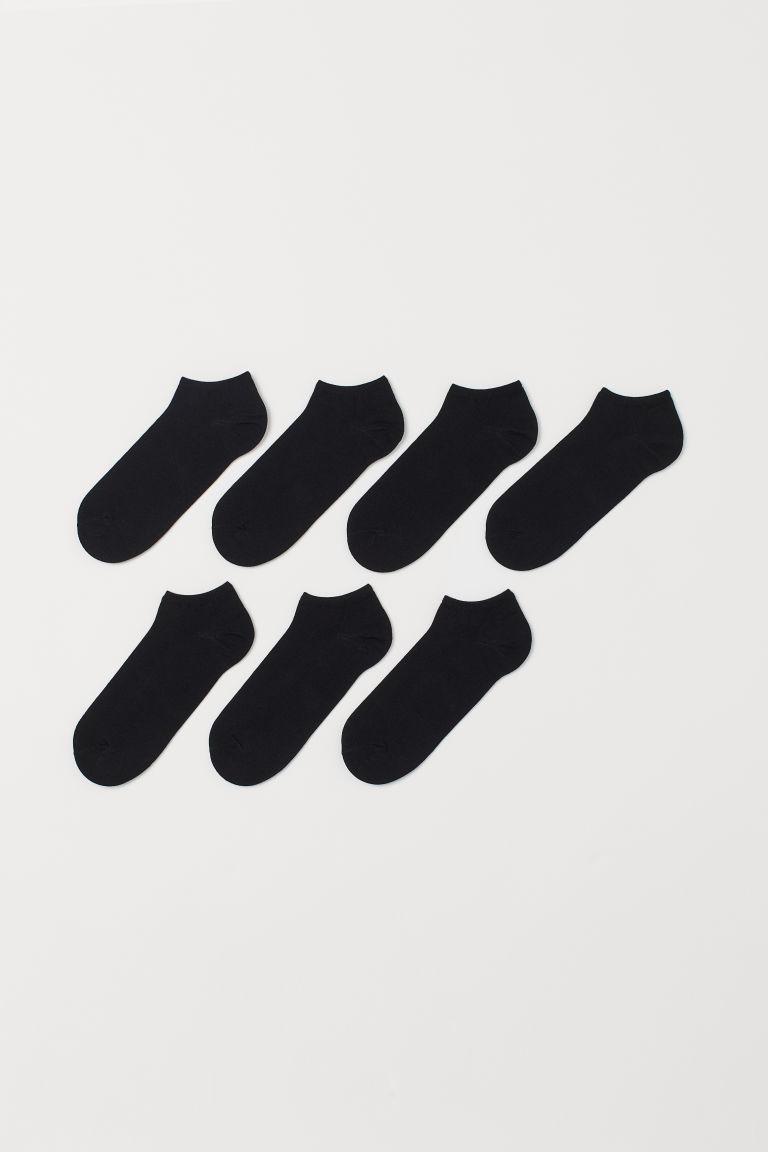 H & M - 7-pack sneakersstrumpor - Svart