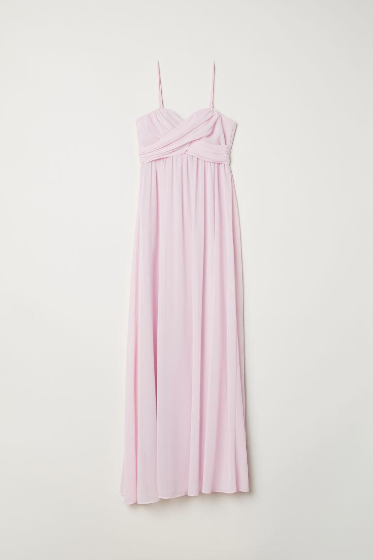 H & M - 平口長洋裝 - 粉紅色