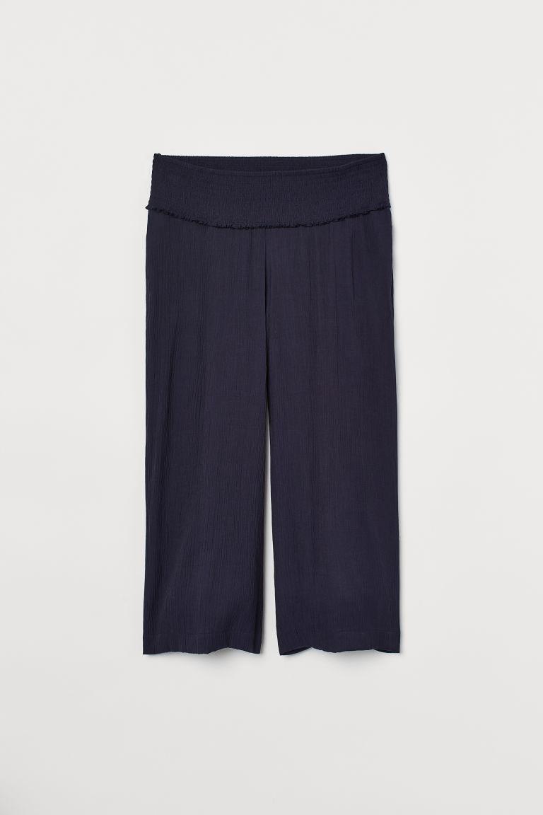 H & M - MAMA 寬管褲 - 藍色