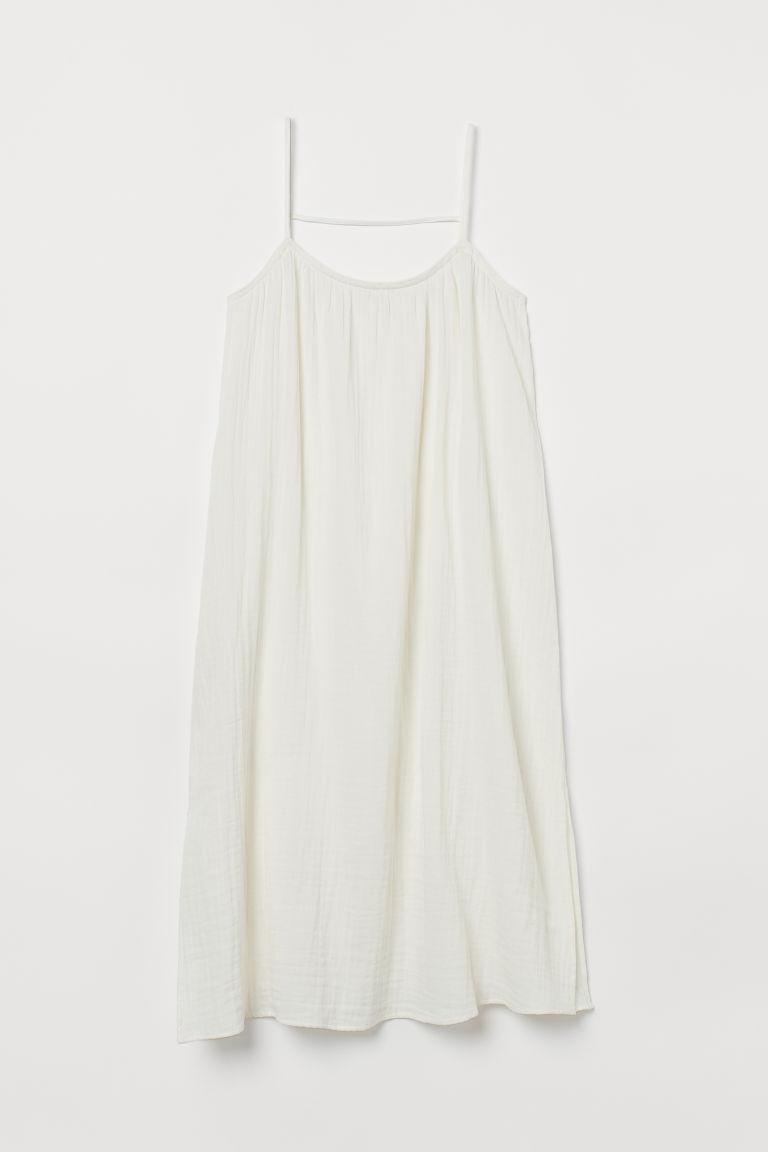 H & M - 開衩洋裝 - 白色
