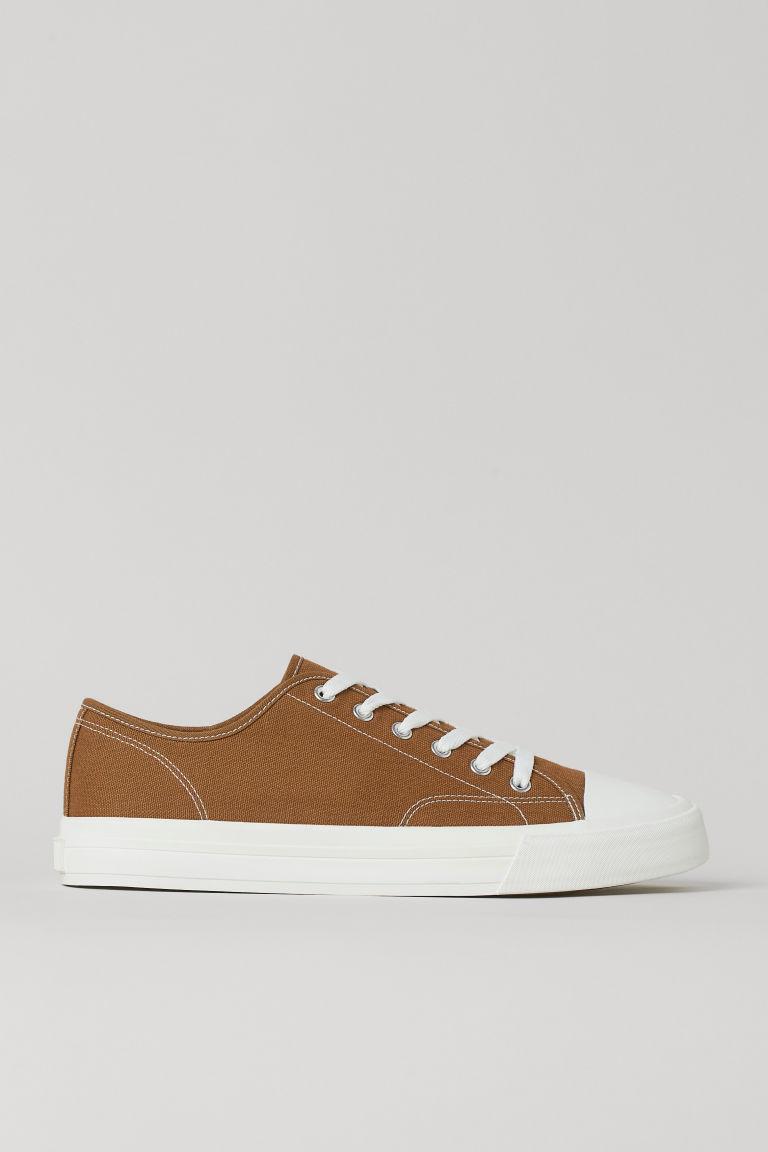 H & M - 帆布鞋 - 米黃色