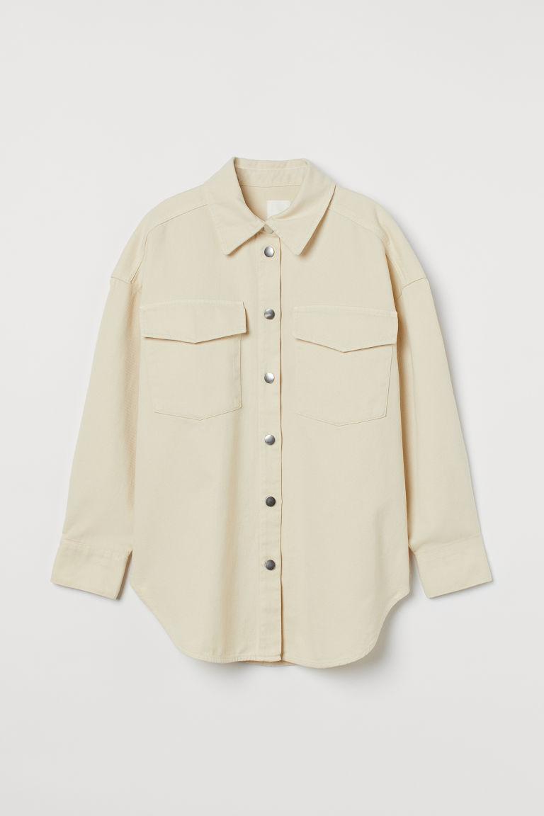 H & M - 丹寧襯衫式外套 - 黃色