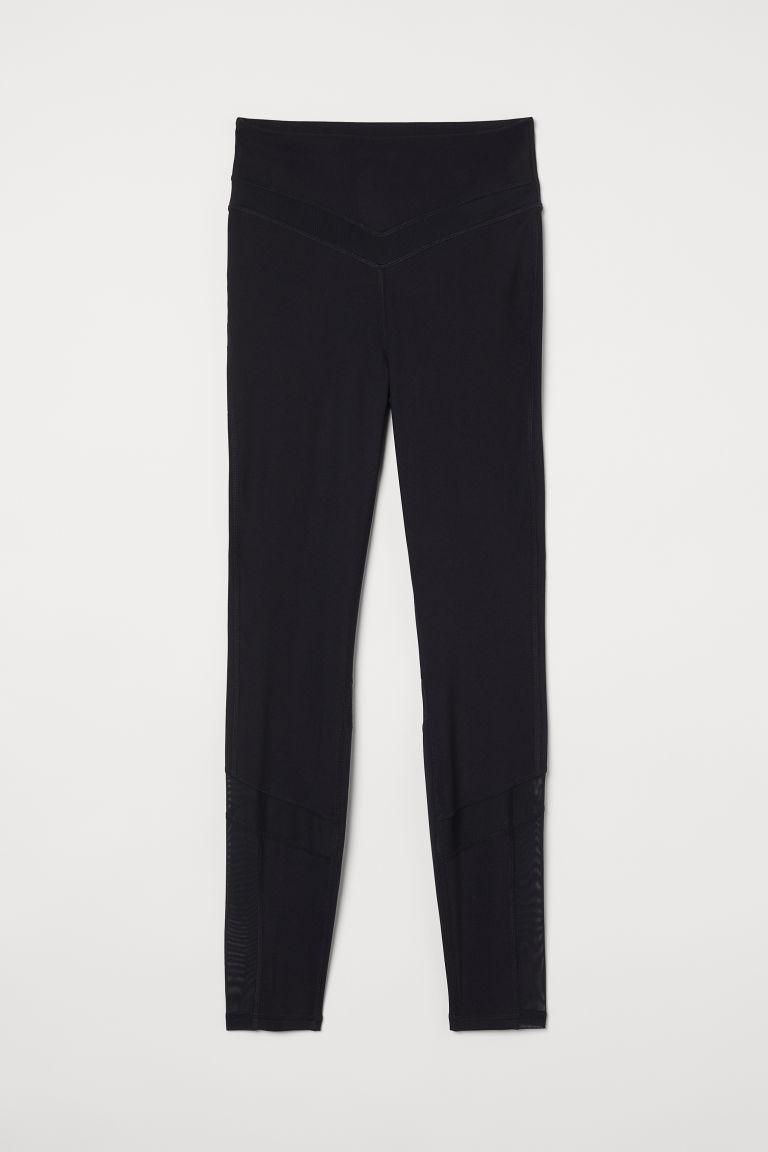 H & M - 高腰緊身褲 - 黑色