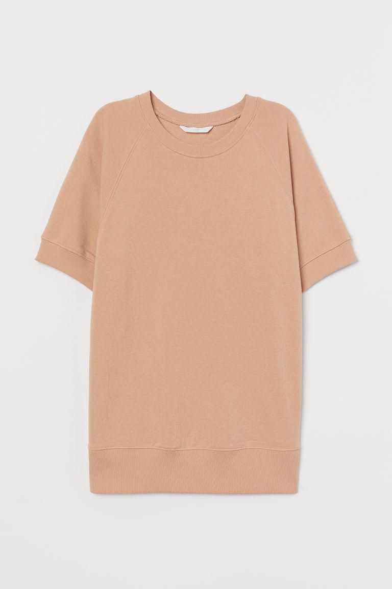H & M - MAMA 短袖運動衫 - 米黃色