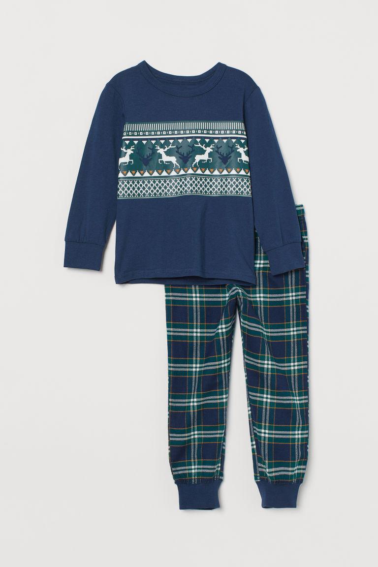 H & M - 睡衣套裝 - 綠色