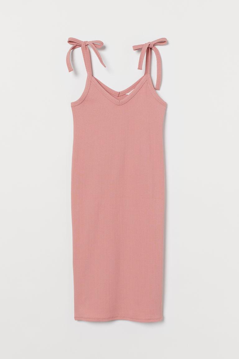 H & M - MAMA 羅紋洋裝 - 粉紅色