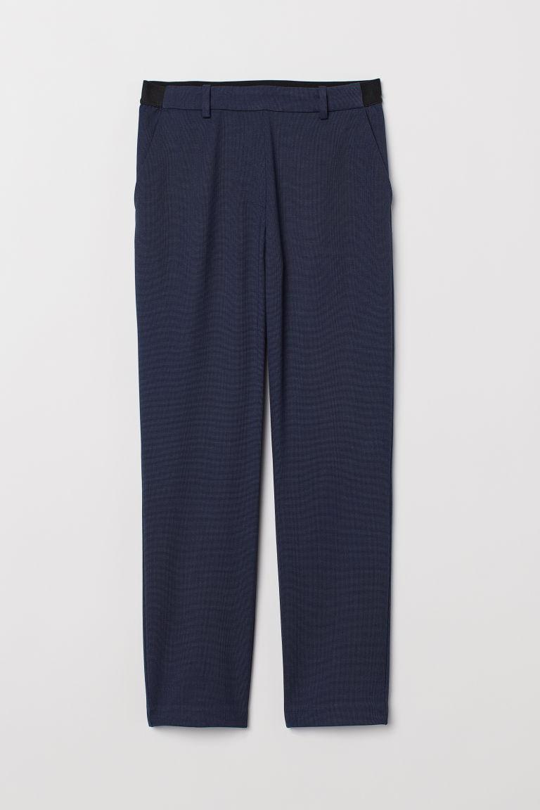 H & M - 鬆緊式煙管褲 - 藍色