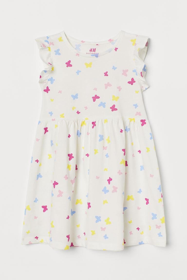 H & M - 平紋洋裝 - 白色