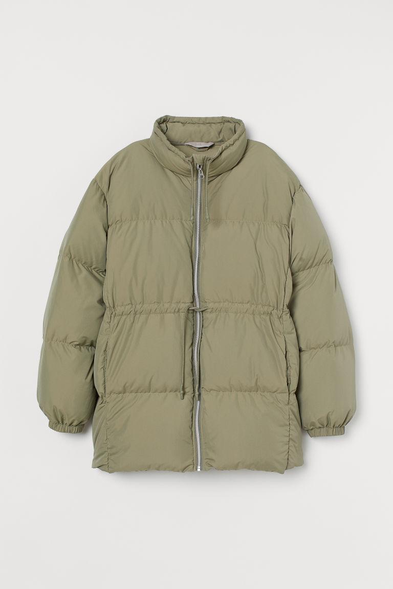 H & M - 加大碼羽絨外套 - 綠色