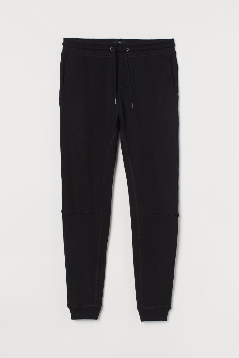 H & M - 錐形運動長褲 - 黑色