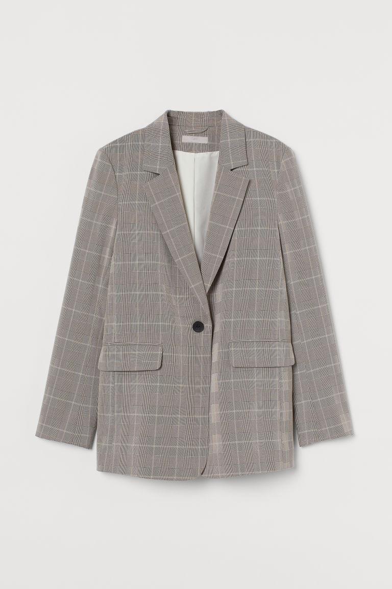 H & M - 單排扣外套 - 米黃色