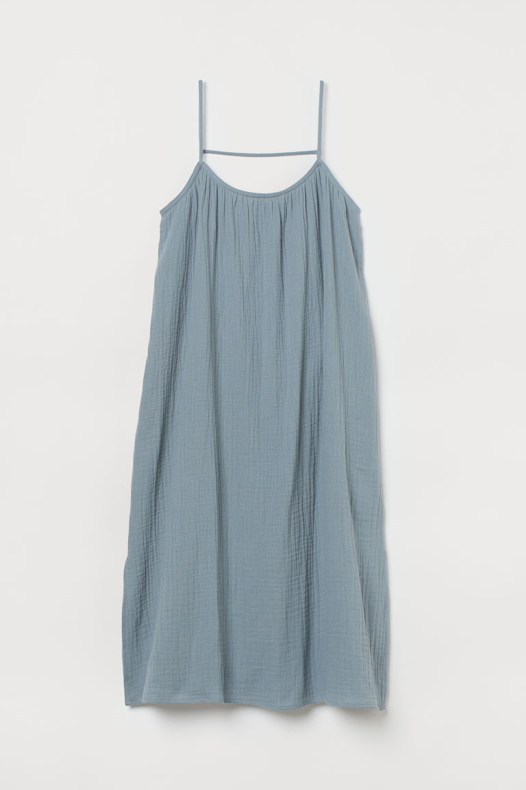H & M - 開衩洋裝 - 藍色