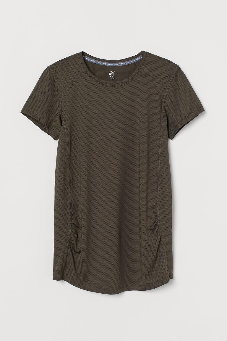 H & M - MAMA 運動上衣 - 米黃色