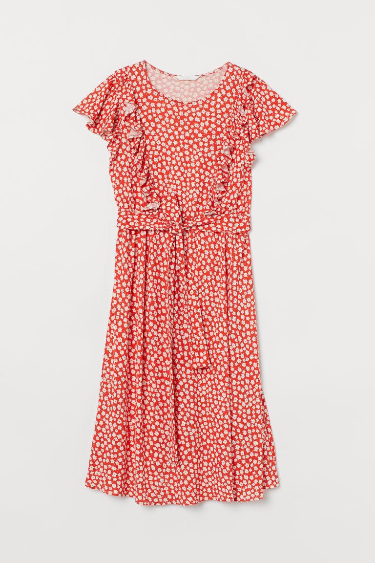 H & M - MAMA 荷葉邊洋裝 - 橙色