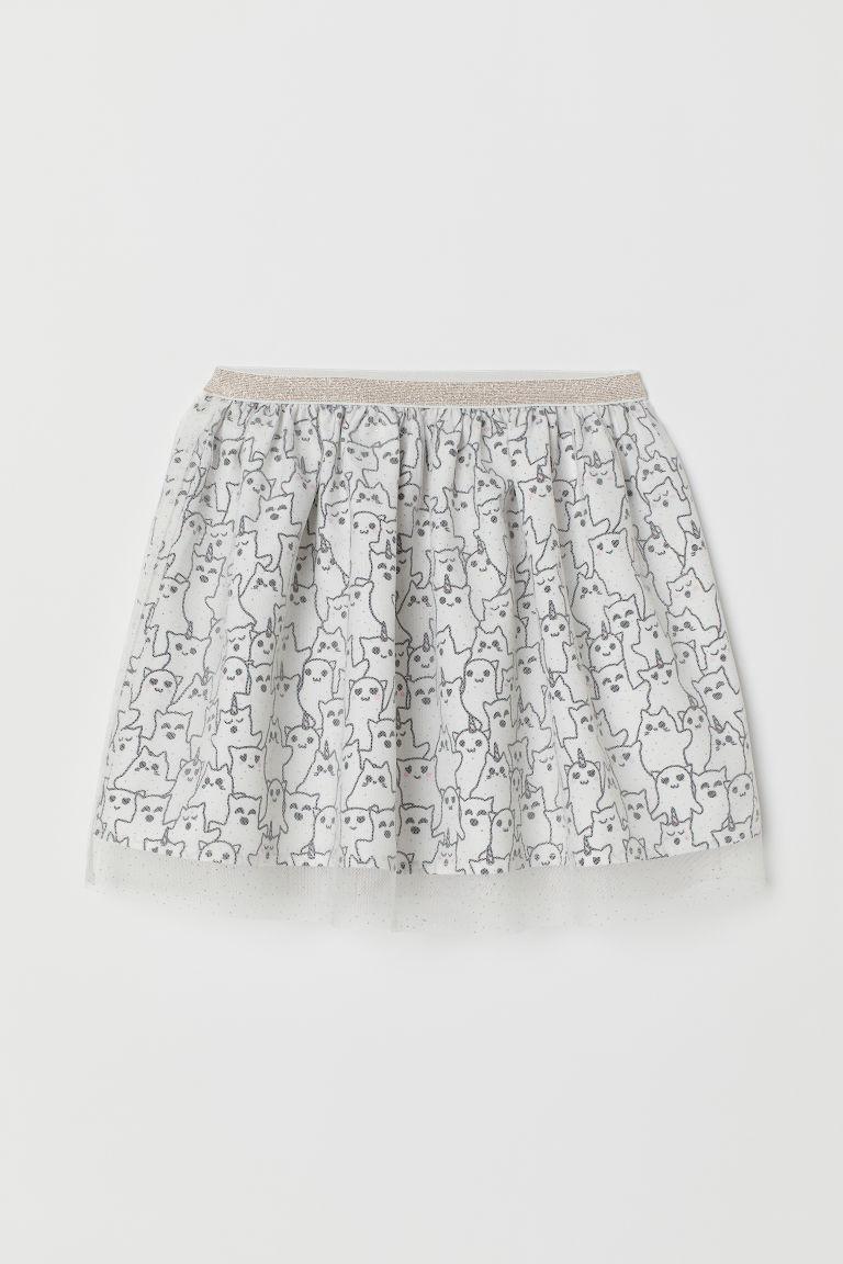 1f388051142 H   M - Tulle skirt - White