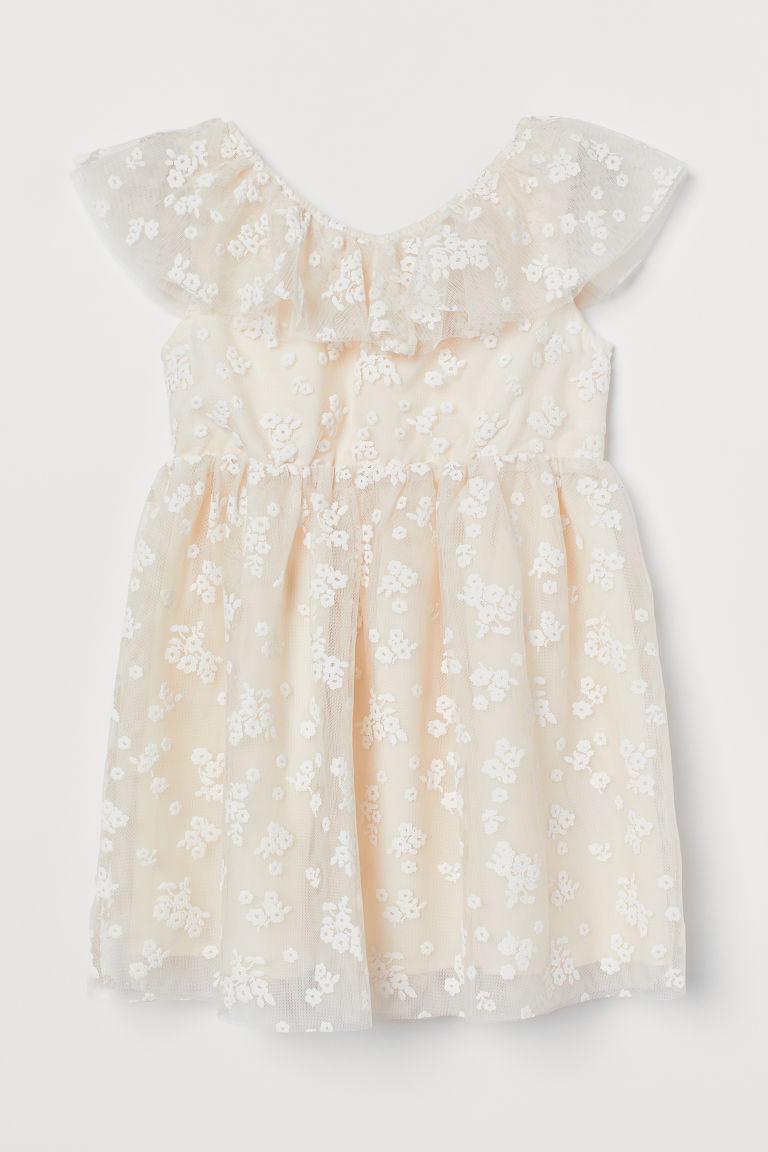 H & M - 薄紗洋裝 - 米黃色
