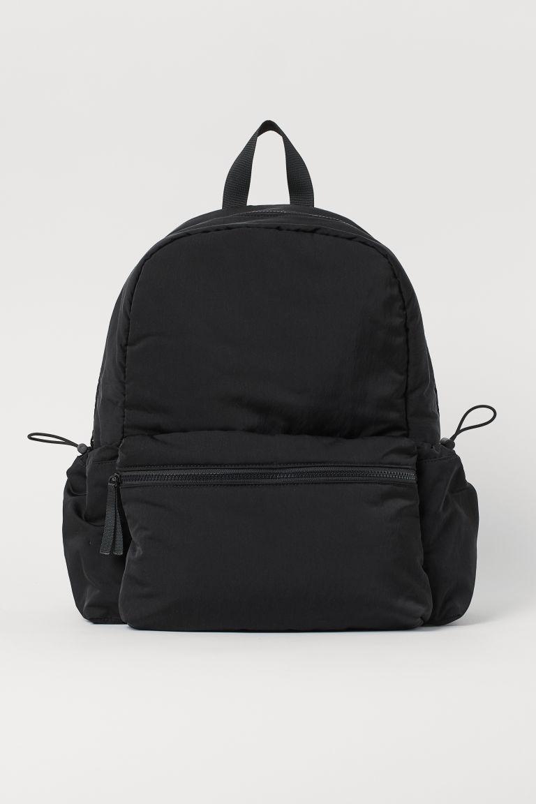 H & M - 防潑水後背包 - 黑色