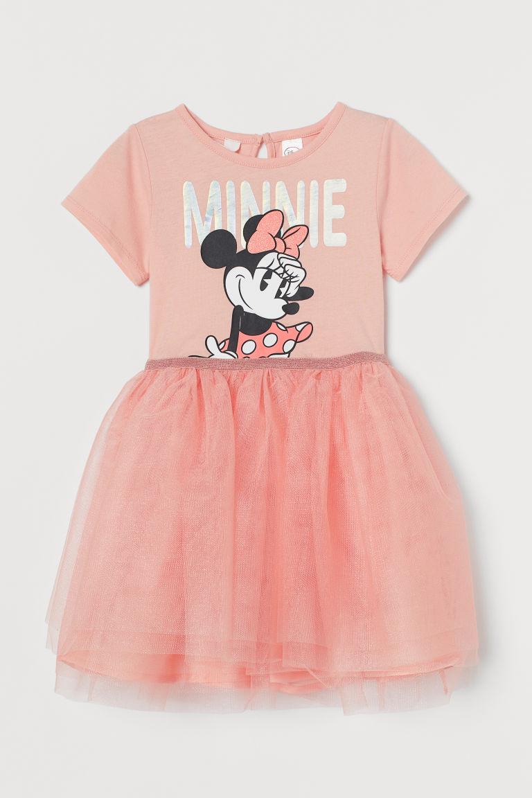 H & M - 圖案薄紗洋裝 - 橙色