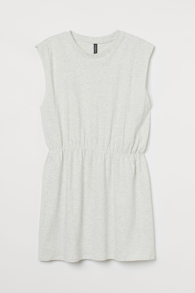 H & M - H & M+ 平紋洋裝 - 灰色