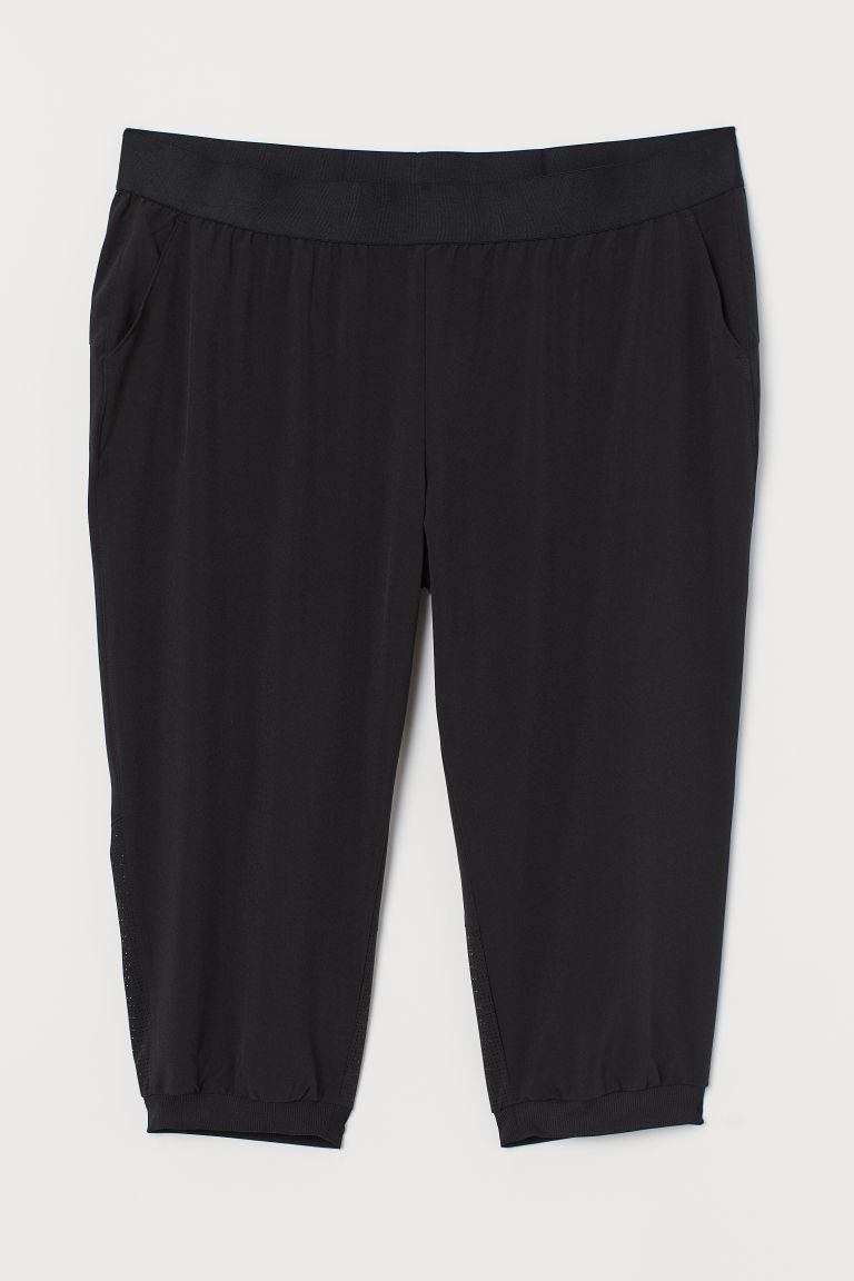H & M - H & M+ 七分運動褲 - 黑色