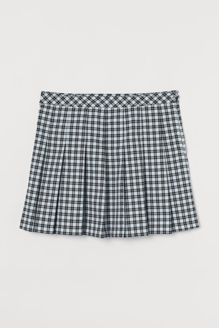 H & M - H & M+ 百褶裙 - 藍綠色