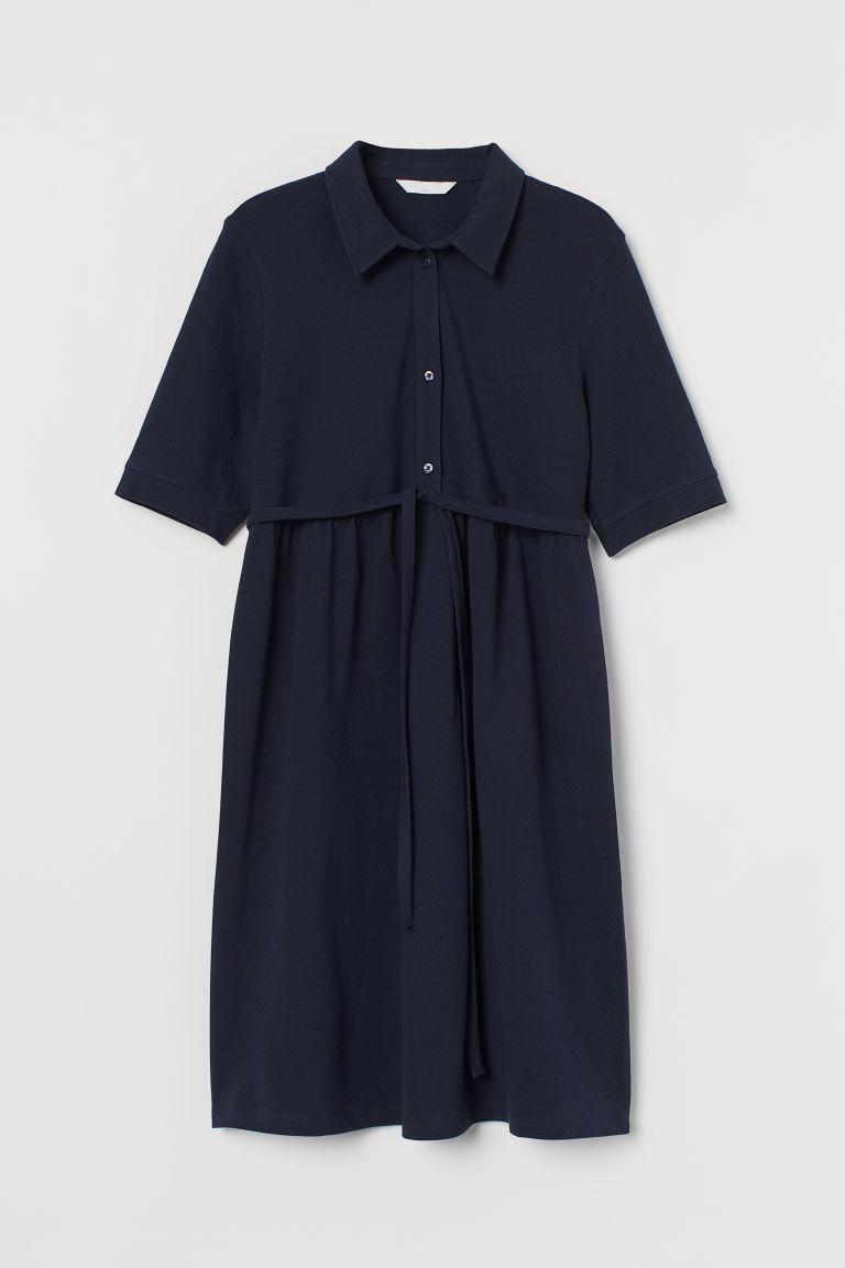 H & M - MAMA 網眼洋裝 - 藍色