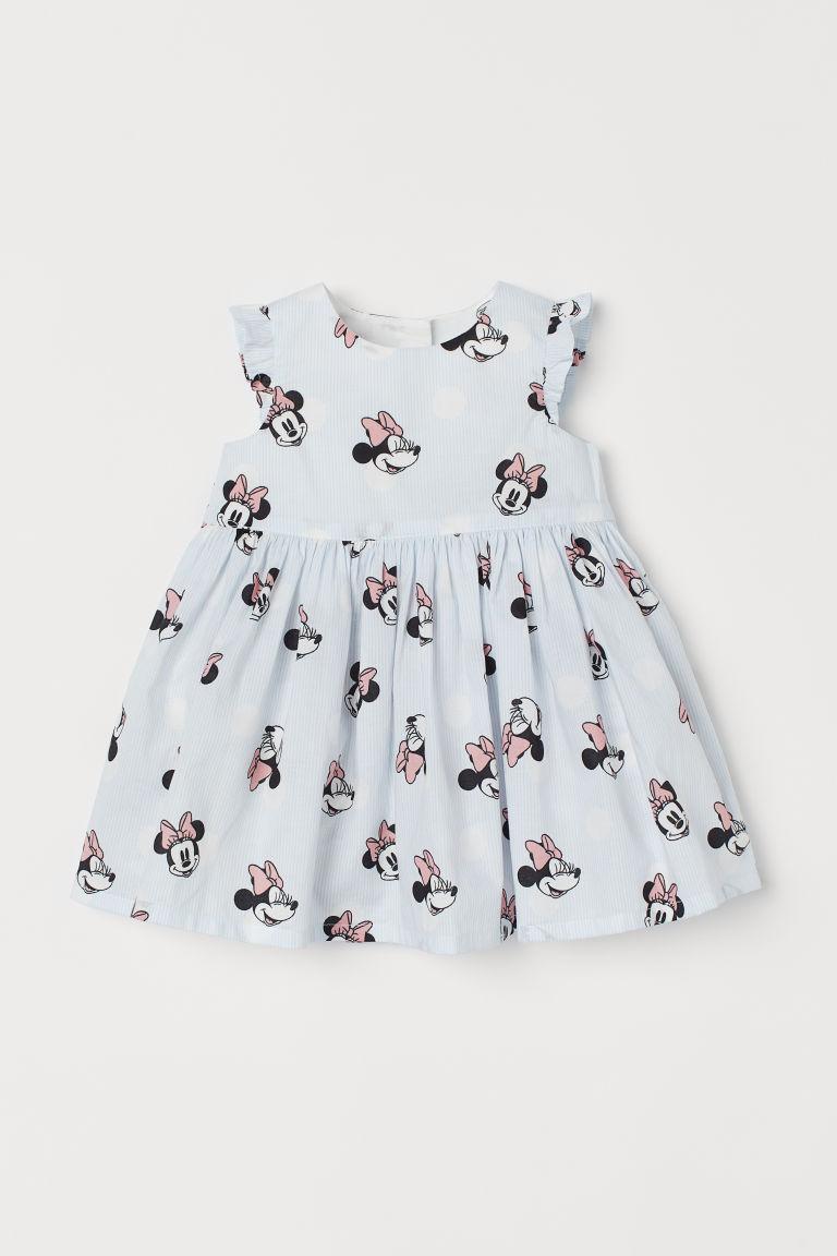 H & M - 印花棉質洋裝 - 白色