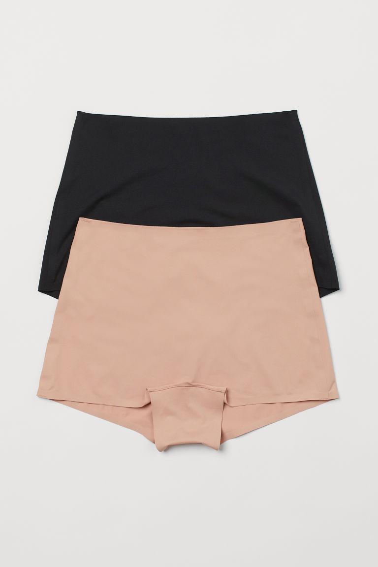 H & M - 2件入平滑內褲 - 橙色