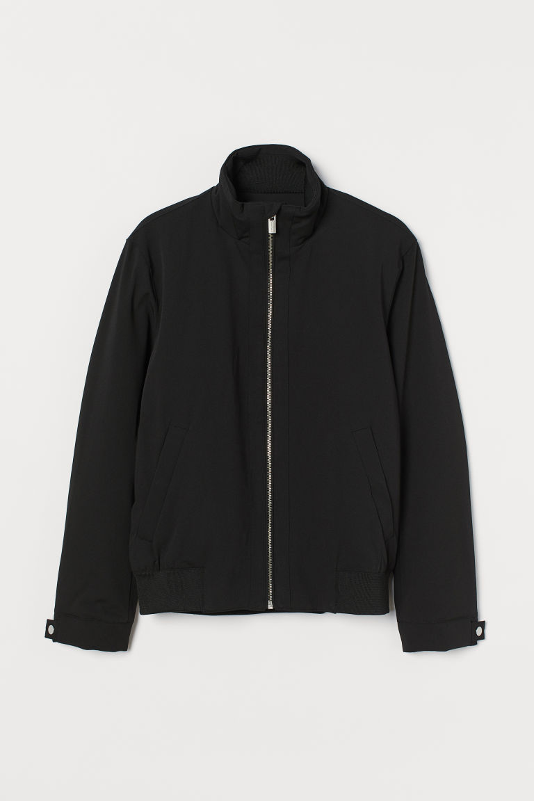 H & M - 立領外套 - 黑色
