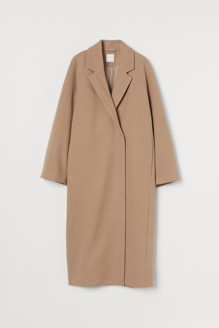 H & M - 中長大衣 - 褐色