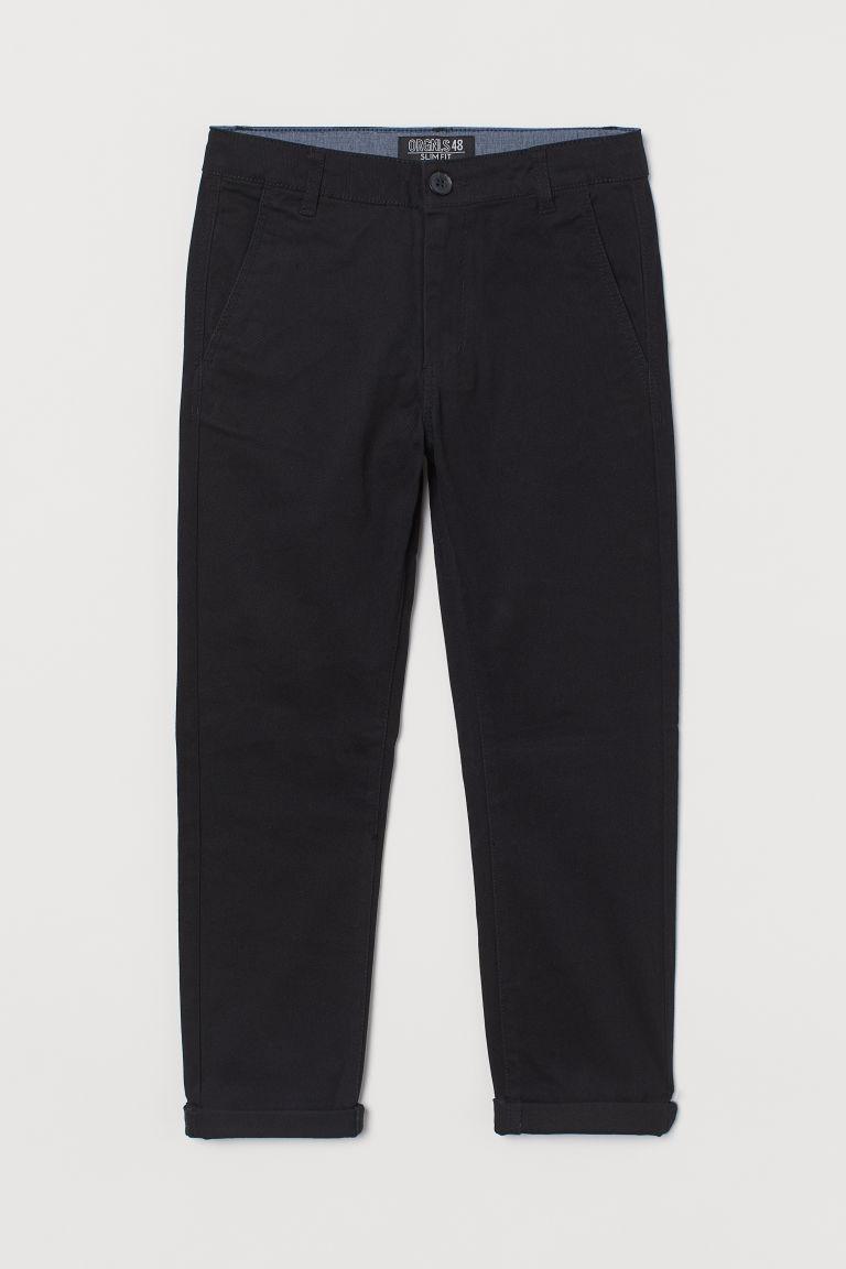 H & M - 貼身卡其褲 - 黑色