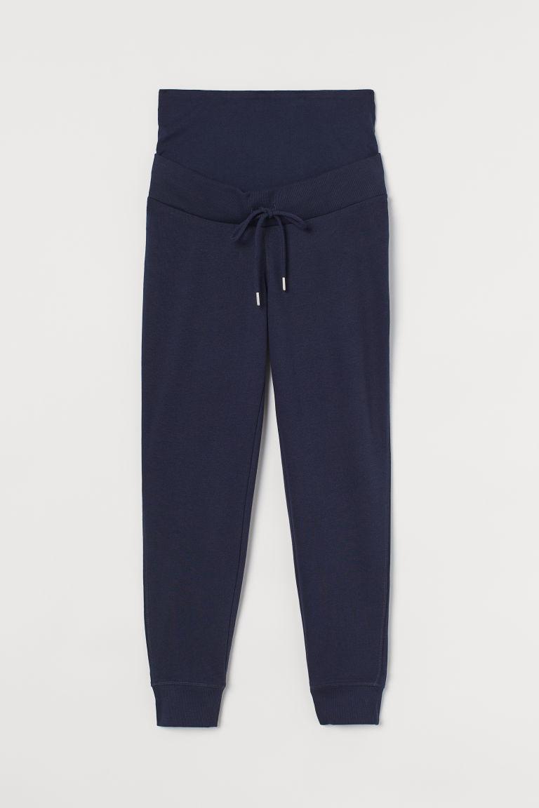 H & M - MAMA 棉質混紡慢跑褲 - 藍色