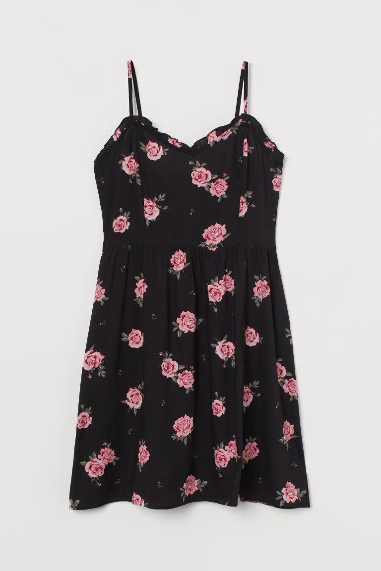 H & M - 細肩帶洋裝 - 黑色
